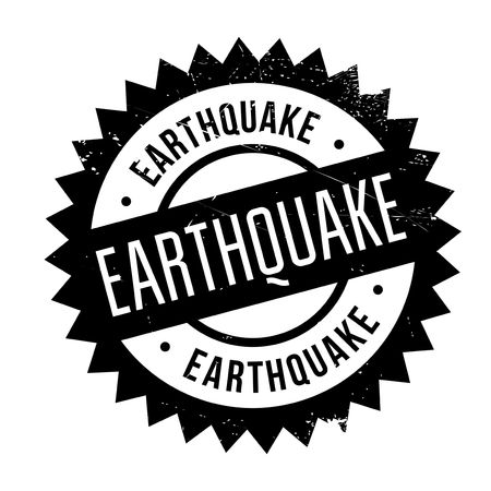 Earthquake stamp. Grunge design with dust scratches. Effects can be easily removed for a clean, crisp look. Color is easily changed. Illustration