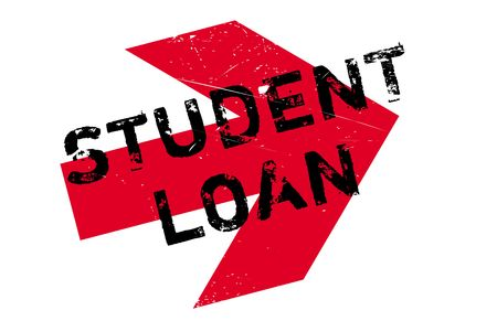 Student loan stamp. Grunge design with dust scratches. Effects can be easily removed for a clean, crisp look. Color is easily changed. Illustration