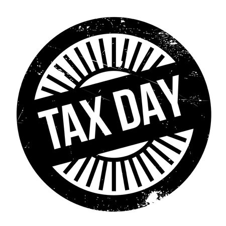 tribute: Tax day stamp. Grunge design with dust scratches. Effects can be easily removed for a clean, crisp look. Color is easily changed.