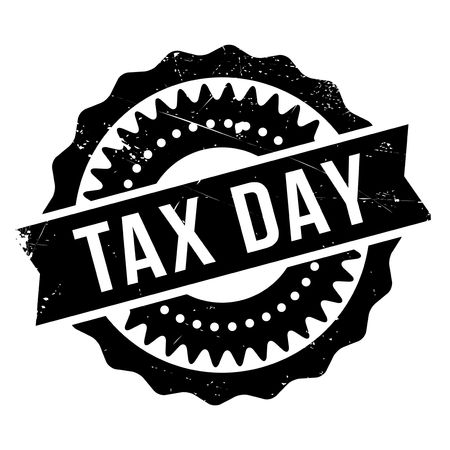 impost: Tax day stamp. Grunge design with dust scratches. Effects can be easily removed for a clean, crisp look. Color is easily changed.