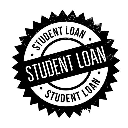 allow: Student loan stamp. Grunge design with dust scratches. Effects can be easily removed for a clean, crisp look. Color is easily changed. Illustration
