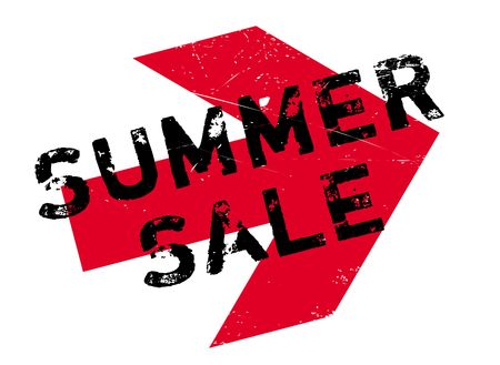 summertime: Summer sale stamp. Grunge design with dust scratches. Effects can be easily removed for a clean, crisp look. Color is easily changed. Illustration