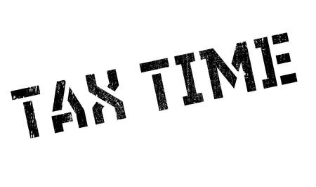 Tax time stamp. disegno del grunge con graffi di polvere. Gli effetti possono essere facilmente rimossi per un look pulito e fresco. Il colore è molto semplice.
