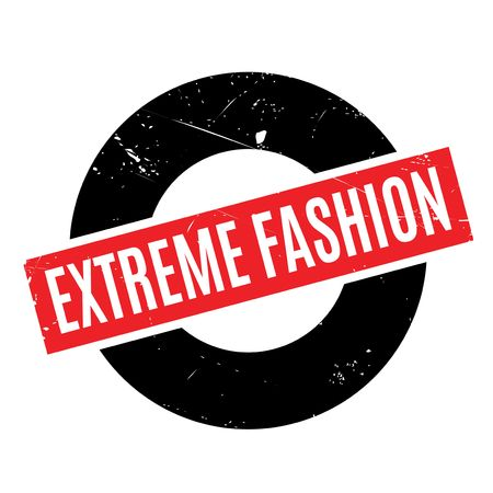 extravagant: Extreme Fashion rubber stamp. Grunge design with dust scratches. Effects can be easily removed for a clean, crisp look. Color is easily changed.
