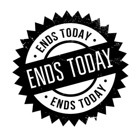 Ends Today stamp. Grunge design with dust scratches. Effects can be easily removed for a clean, crisp look. Color is easily changed.