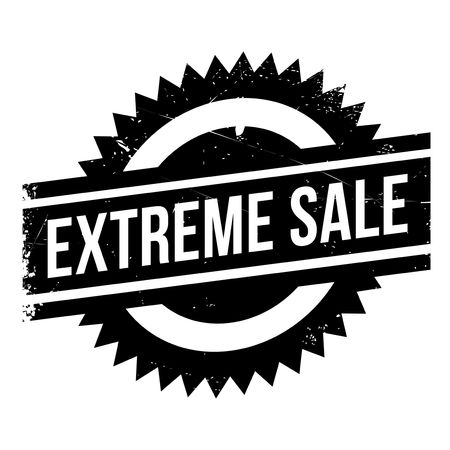 Extreme Sale stamp. Grunge design with dust scratches. Effects can be easily removed for a clean, crisp look. Color is easily changed. Stock Vector - 70880696