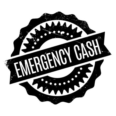 necessity: Emergency Cash stamp. Grunge design with dust scratches. Effects can be easily removed for a clean, crisp look. Color is easily changed.