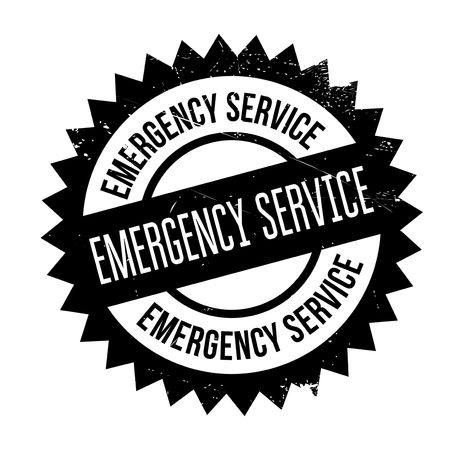 extremity: Emergency Service stamp. Grunge design with dust scratches. Effects can be easily removed for a clean, crisp look. Color is easily changed.