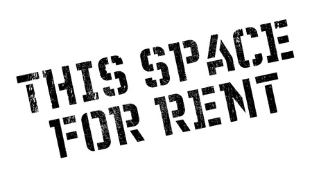 allow: This Space For Rent stamp. Grunge design with dust scratches. Effects can be easily removed for a clean, crisp look. Color is easily changed.