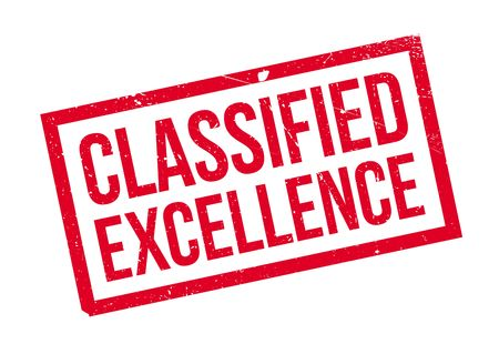 sort: Classified Excellence rubber stamp. Grunge design with dust scratches. Effects can be easily removed for a clean, crisp look. Color is easily changed.
