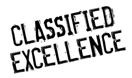 assort: Classified Excellence rubber stamp. Grunge design with dust scratches. Effects can be easily removed for a clean, crisp look. Color is easily changed.