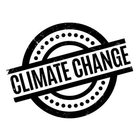 Klimawandel-Stempel. Grunge-Design mit Staub Kratzer. Effekte können für ein sauberes, klares Aussehen leicht entfernt werden. Die Farbe wird leicht geändert. Standard-Bild - 70880367