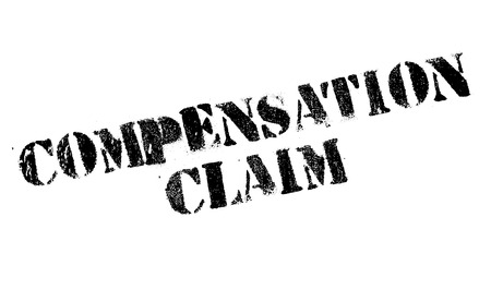 remuneration: Compensation Claim rubber stamp. Grunge design with dust scratches. Effects can be easily removed for a clean, crisp look. Color is easily changed.