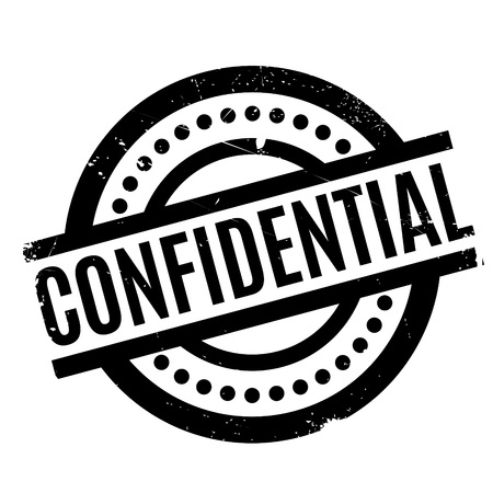 Confidential rubber stamp. Grunge design with dust scratches. Effects can be easily removed for a clean, crisp look. Color is easily changed. Illustration