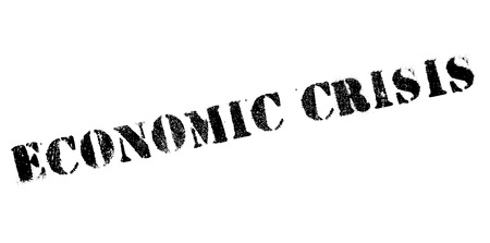 bust: Economic Crisis rubber stamp. Grunge design with dust scratches. Effects can be easily removed for a clean, crisp look. Color is easily changed.