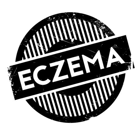 itch: Eczema rubber stamp. Grunge design with dust scratches. Effects can be easily removed for a clean, crisp look. Color is easily changed.