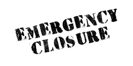 unopen: Emergency Closure rubber stamp. Grunge design with dust scratches. Effects can be easily removed for a clean, crisp look. Color is easily changed.