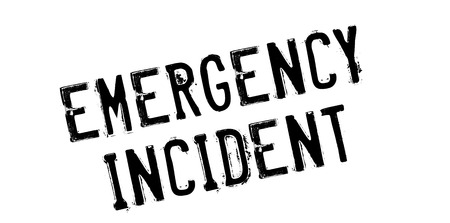 health threat: Emergency Incident rubber stamp. Grunge design with dust scratches. Effects can be easily removed for a clean, crisp look. Color is easily changed.