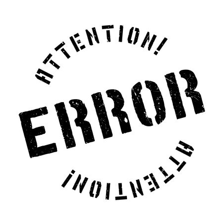poronienie: Error rubber stamp. Grunge design with dust scratches. Effects can be easily removed for a clean, crisp look. Color is easily changed.