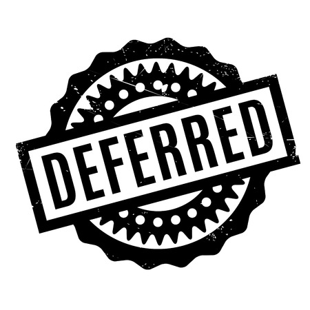 Deferred rubber stamp. Grunge design with dust scratches. Effects can be easily removed for a clean, crisp look. Color is easily changed. Illustration