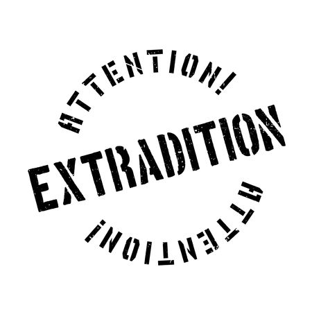 Extradition rubber stamp. Grunge design with dust scratches. Effects can be easily removed for a clean, crisp look. Color is easily changed. Illustration