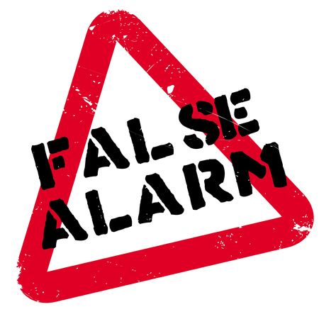 False Alarm rubber stamp. Grunge design with dust scratches. Effects can be easily removed for a clean, crisp look. Color is easily changed. Illustration