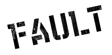 offense: Fault rubber stamp. Grunge design with dust scratches. Effects can be easily removed for a clean, crisp look. Color is easily changed.