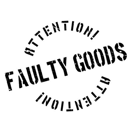 unprofessional: Faulty Goods rubber stamp. Grunge design with dust scratches. Effects can be easily removed for a clean, crisp look. Color is easily changed.