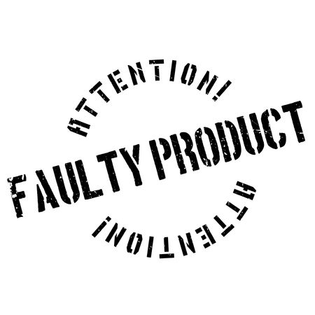 unprofessional: Faulty Product rubber stamp. Grunge design with dust scratches. Effects can be easily removed for a clean, crisp look. Color is easily changed.