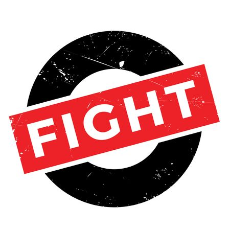 controversy: Fight rubber stamp. Grunge design with dust scratches. Effects can be easily removed for a clean, crisp look. Color is easily changed. Illustration