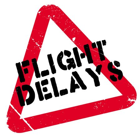 Flight Delays rubber stamp. Grunge design with dust scratches. Effects can be easily removed for a clean, crisp look. Color is easily changed. Illustration