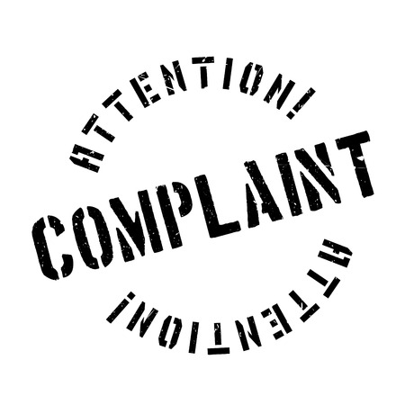 objection: Complaint rubber stamp. Grunge design with dust scratches. Effects can be easily removed for a clean, crisp look. Color is easily changed.