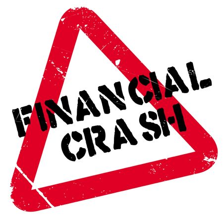 Financial Crash rubber stamp. Grunge design with dust scratches. Effects can be easily removed for a clean, crisp look. Color is easily changed. Illustration