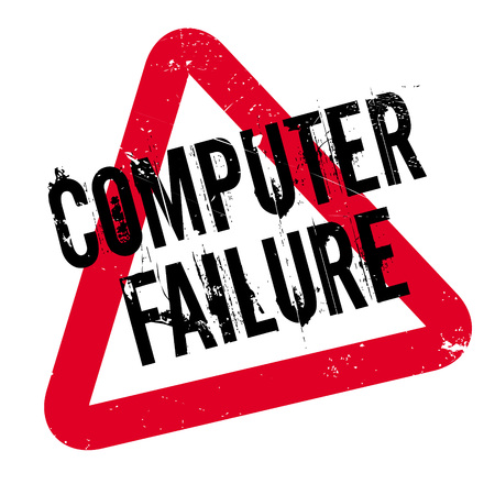 Computer Failure rubber stamp. Grunge design with dust scratches. Effects can be easily removed for a clean, crisp look. Color is easily changed.