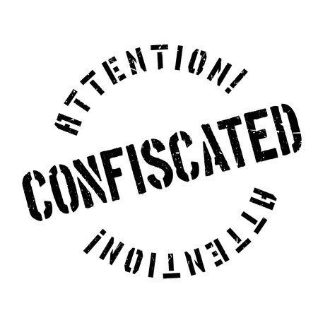 Confiscated rubber stamp. Grunge design with dust scratches. Effects can be easily removed for a clean, crisp look. Color is easily changed.
