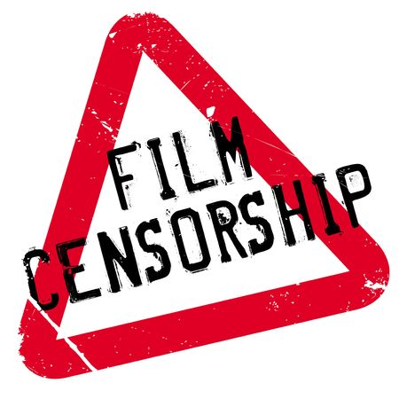 suppression: Film Censorship rubber stamp. Grunge design with dust scratches. Effects can be easily removed for a clean, crisp look. Color is easily changed.