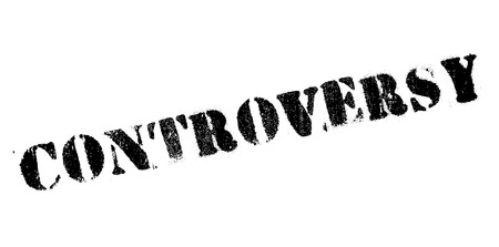 argument: Controversy rubber stamp. Grunge design with dust scratches. Effects can be easily removed for a clean, crisp look. Color is easily changed. Illustration