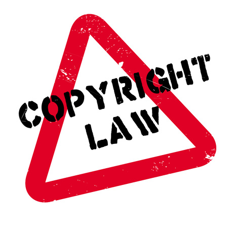 Copyright Law rubber stamp. Grunge design with dust scratches. Effects can be easily removed for a clean, crisp look. Color is easily changed.