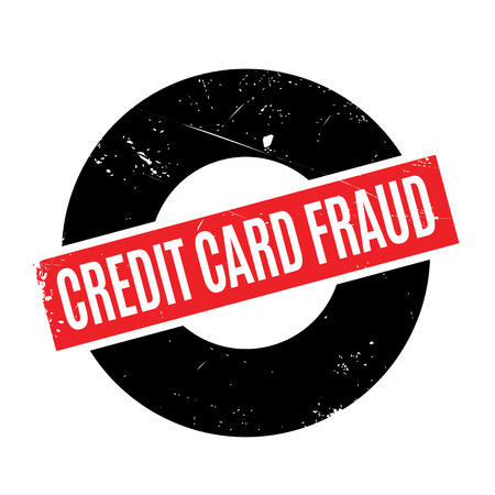 fraudulent: Credit Card Fraud rubber stamp. Grunge design with dust scratches. Effects can be easily removed for a clean, crisp look. Color is easily changed.
