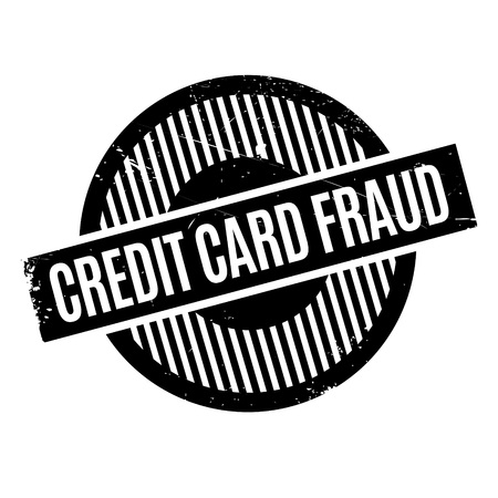 personal banking: Credit Card Fraud rubber stamp. Grunge design with dust scratches. Effects can be easily removed for a clean, crisp look. Color is easily changed.