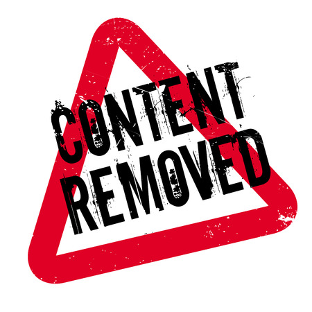 canceled: Content Removed rubber stamp. Grunge design with dust scratches. Effects can be easily removed for a clean, crisp look. Color is easily changed.