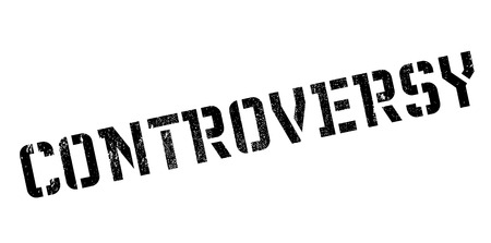 Controversy rubber stamp. Grunge design with dust scratches. Effects can be easily removed for a clean, crisp look. Color is easily changed. Illustration