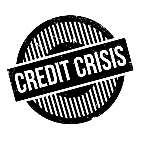 crunches: Credit Crisis rubber stamp. Grunge design with dust scratches. Effects can be easily removed for a clean, crisp look. Color is easily changed. Illustration