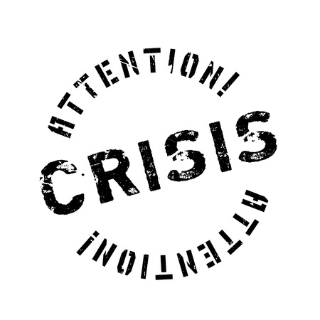 risky situation: Crisis rubber stamp. Grunge design with dust scratches. Effects can be easily removed for a clean, crisp look. Color is easily changed. Illustration