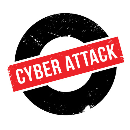 unsafe: Cyber Attack rubber stamp. Grunge design with dust scratches. Effects can be easily removed for a clean, crisp look. Color is easily changed. Illustration