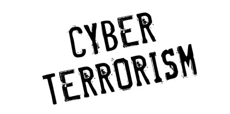 cyber terrorism: Cyber Terrorism rubber stamp. Grunge design with dust scratches. Effects can be easily removed for a clean, crisp look. Color is easily changed. Illustration