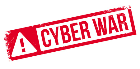 cyber war: Cyber War rubber stamp. Grunge design with dust scratches. Effects can be easily removed for a clean, crisp look. Color is easily changed. Illustration