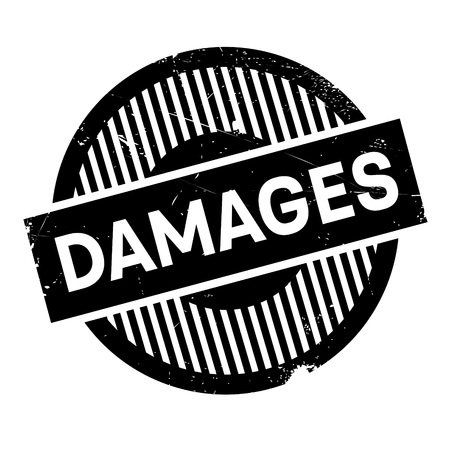 Damages rubber stamp. Grunge design with dust scratches. Effects can be easily removed for a clean, crisp look. Color is easily changed. Ilustração
