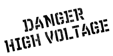 unsure: Danger High Voltage rubber stamp. Grunge design with dust scratches. Effects can be easily removed for a clean, crisp look. Color is easily changed.