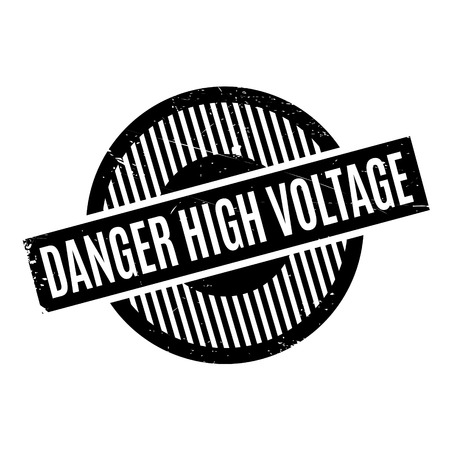 instability: Danger High Voltage rubber stamp. Grunge design with dust scratches. Effects can be easily removed for a clean, crisp look. Color is easily changed.